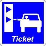 Take a ticket to enter the motorway