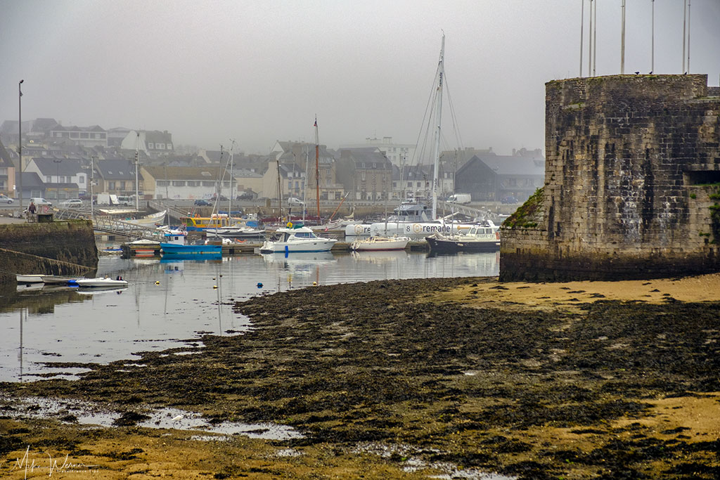 The harbour around the walled city/town of Concarneau