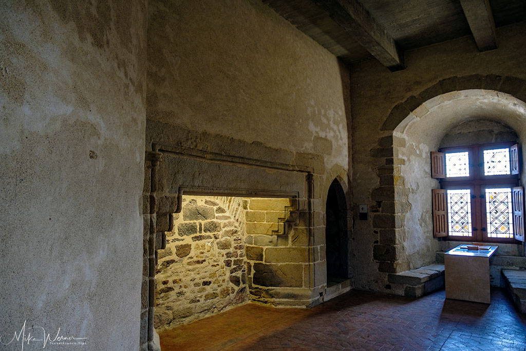 Redone interiors of the Chateau/Fortress Suscinio in Brittany
