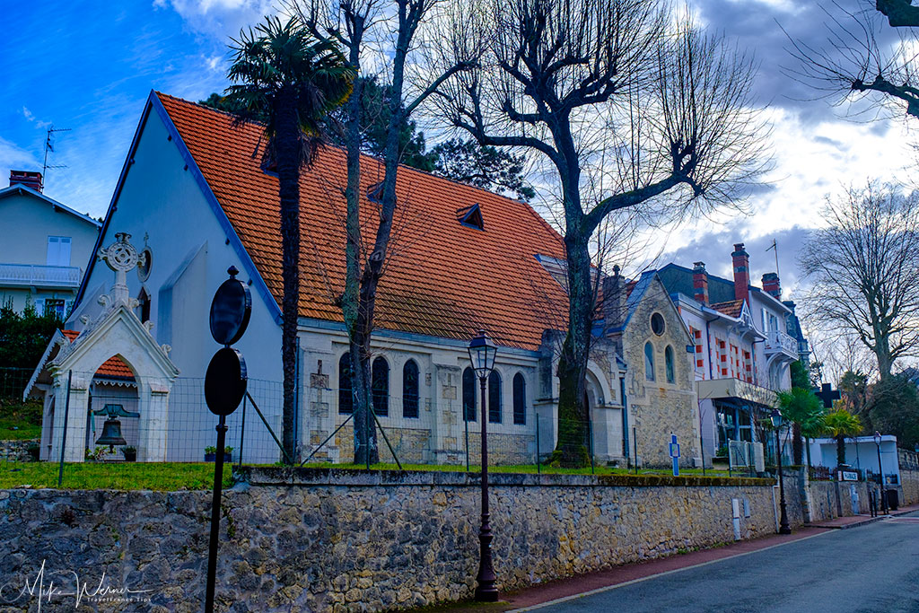 Protestant church in the Winter City of Arcachon