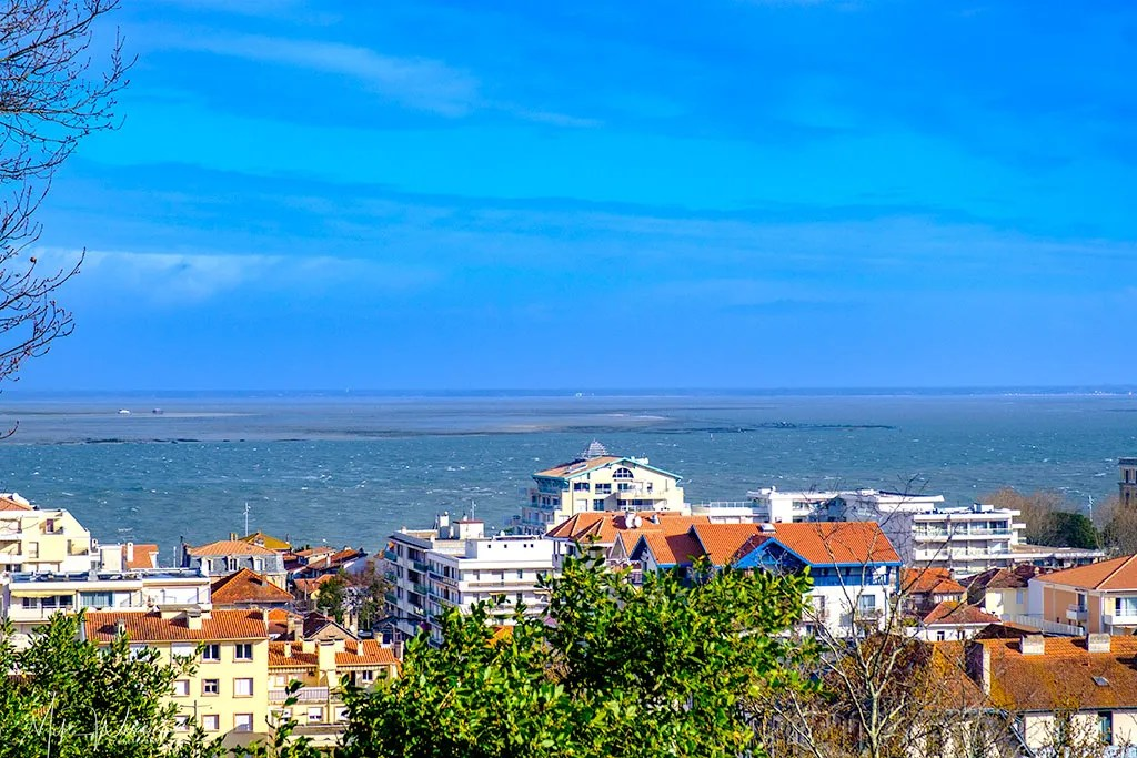 View of Arcachon from the observation tower
