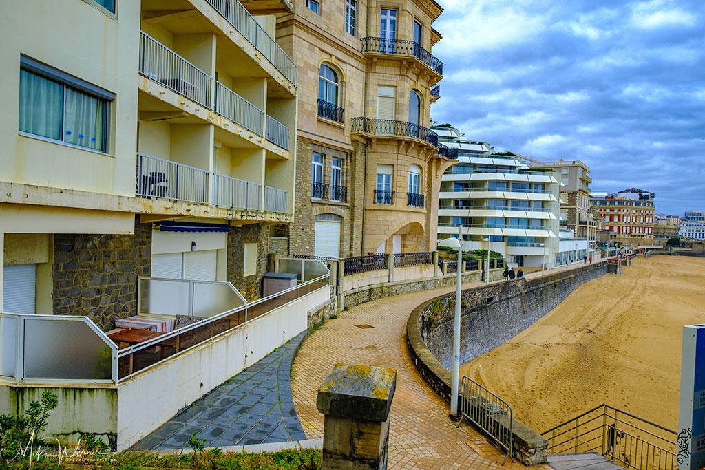 Seaside promenade of Biarritz