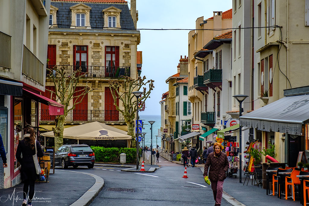 Small shopping streets of Biarritz