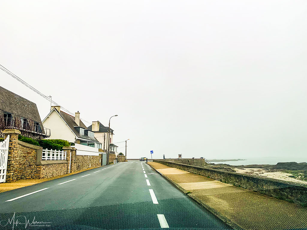 Coastal road between hotels and the city
