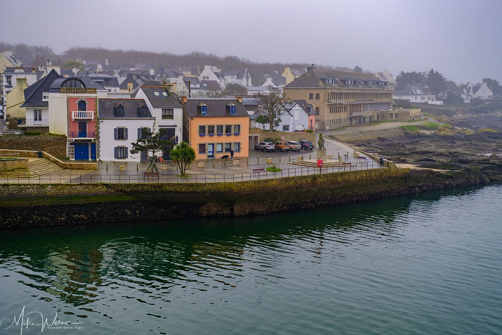Houses across the harbour of Concarneau
