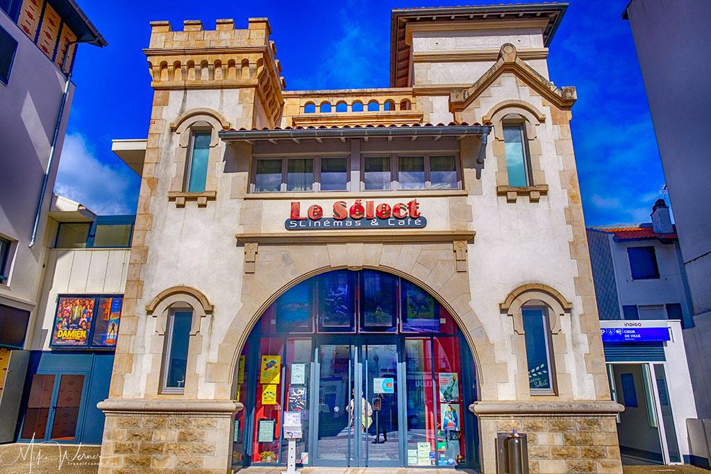 Old fashion cinema in St-Jean-de-Luz