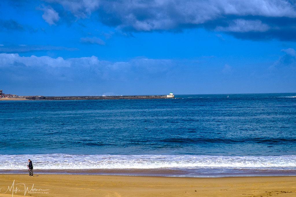Saint-Jean-de-Luz beach and sea walls