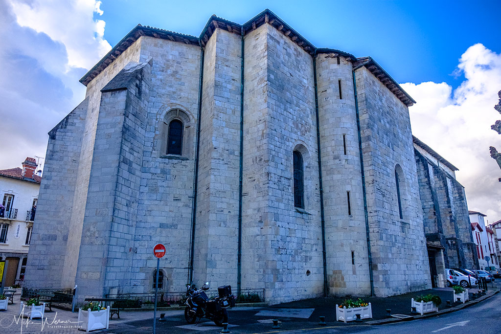 The outside of the Saint-Jean-Baptiste church in Saint-Jean-de-Luz