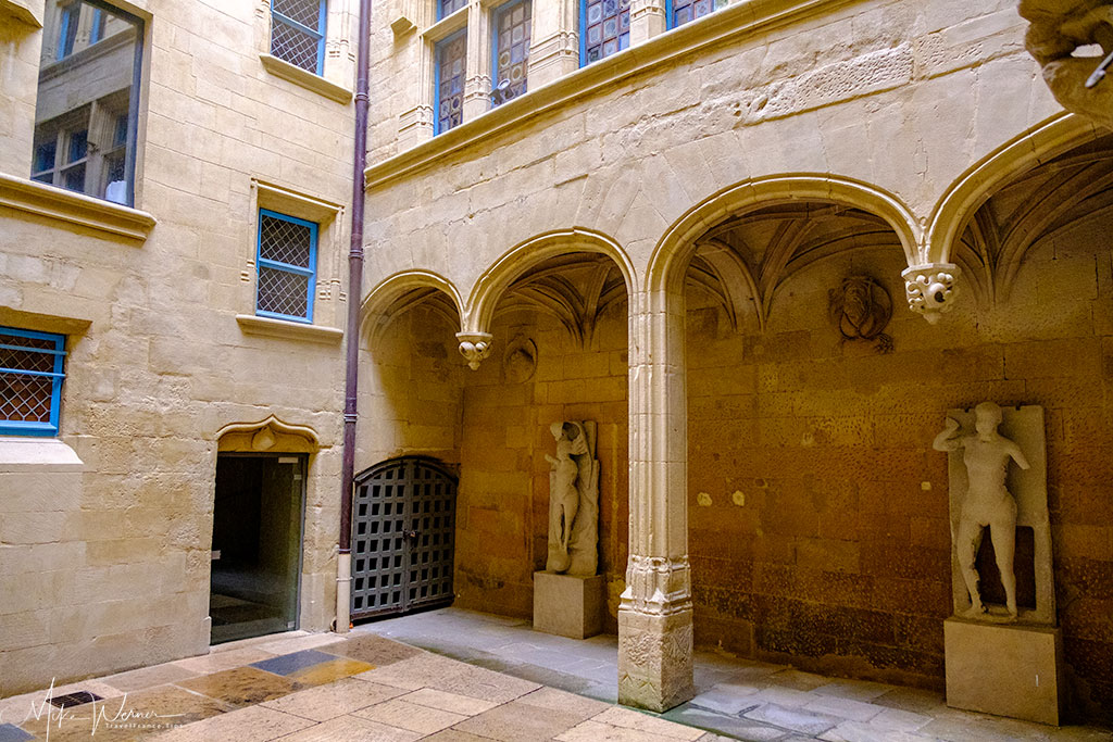 Courtyard in the House of Heads (Maison des Tetes) in Valence