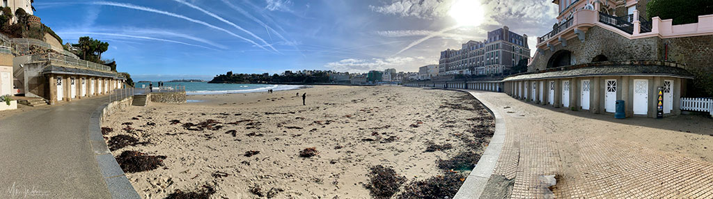 Panoramic photo of the Dinard beach