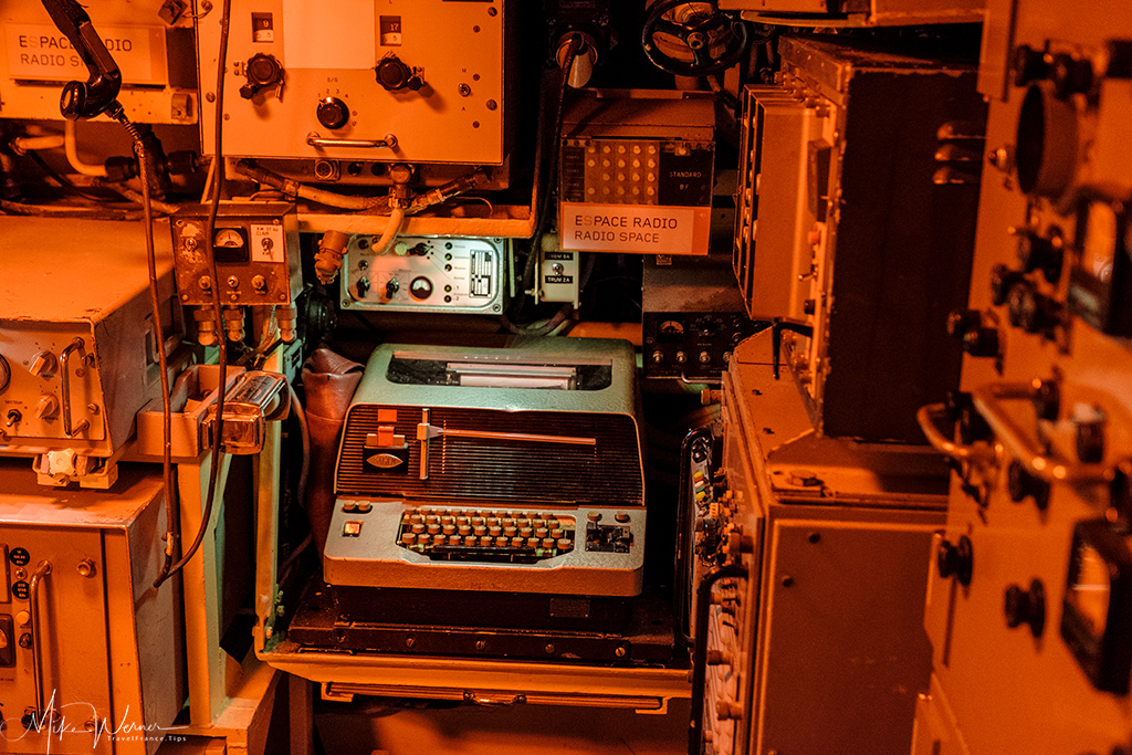 Teletype in the Flore submarine