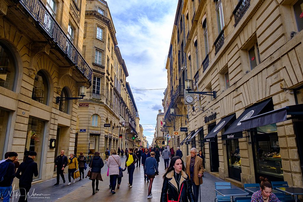 Pedestrian street in Bordeaux