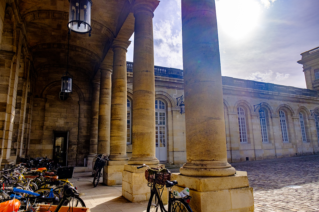 Inside the Bordeaux City Hall courtyard