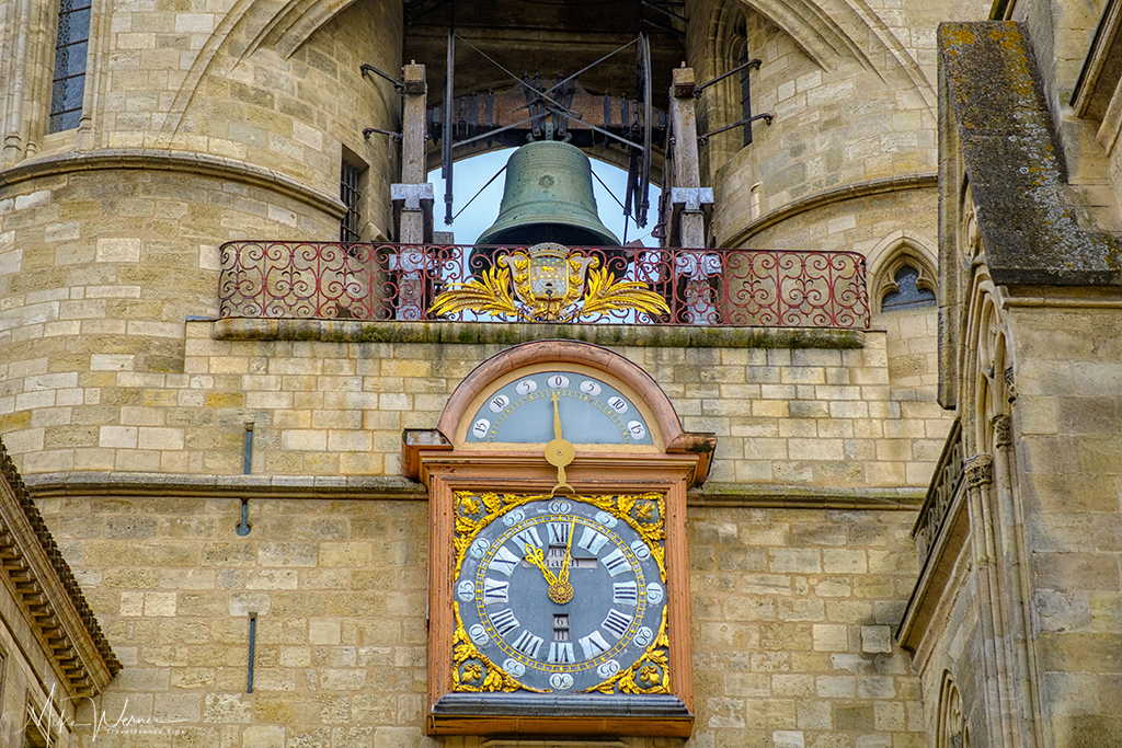The clock of the Porte Saint-Eloy/Grosse Cloche de Bordeaux in Bordeaux