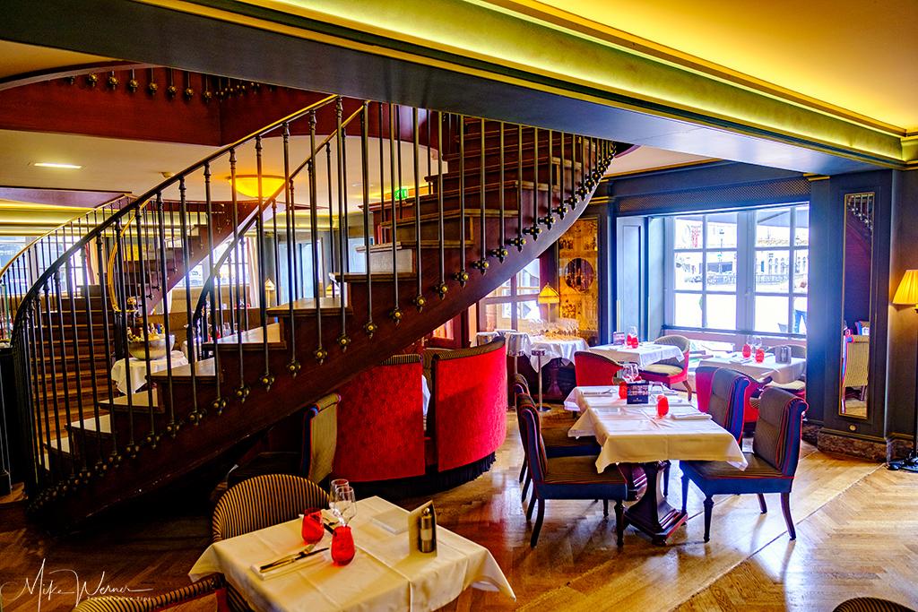 inside the 'Le Bordeaux' restaurant of Gordon Ramsay in Bordeaux