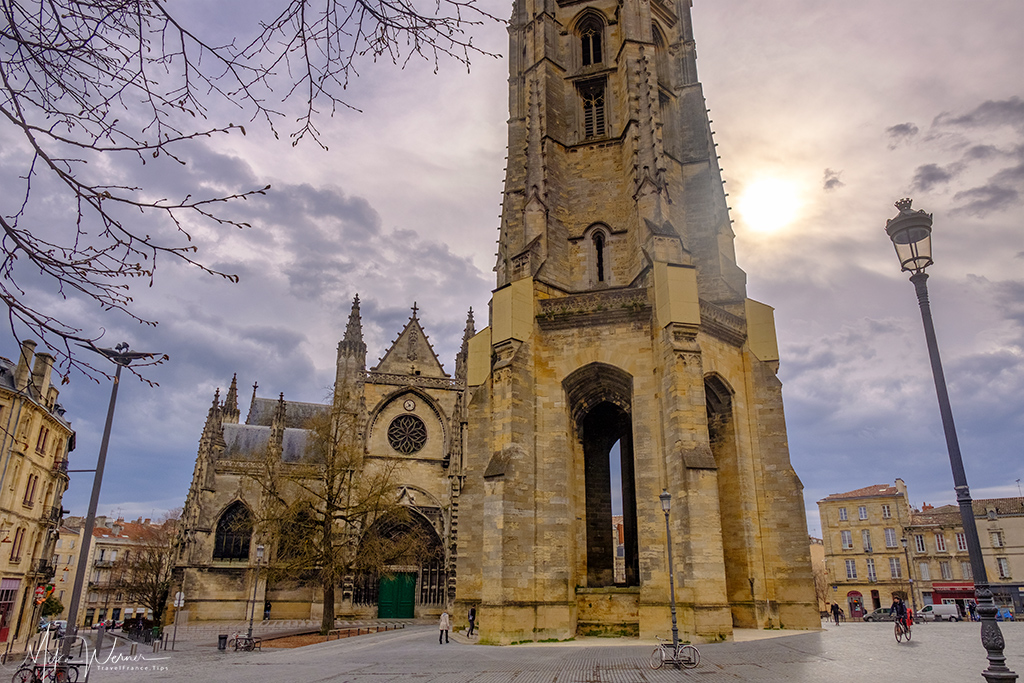 The bell tower of the Basilica of Bordeaux