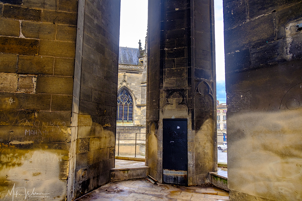 Inside the bell tower of the Basilica-of-St-Michael church in Bordeaux