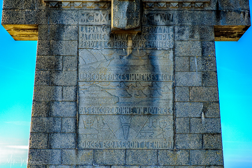 Inscriptions on the 'Croix de Pen-Hir' monument of Camaret-sur-Mer