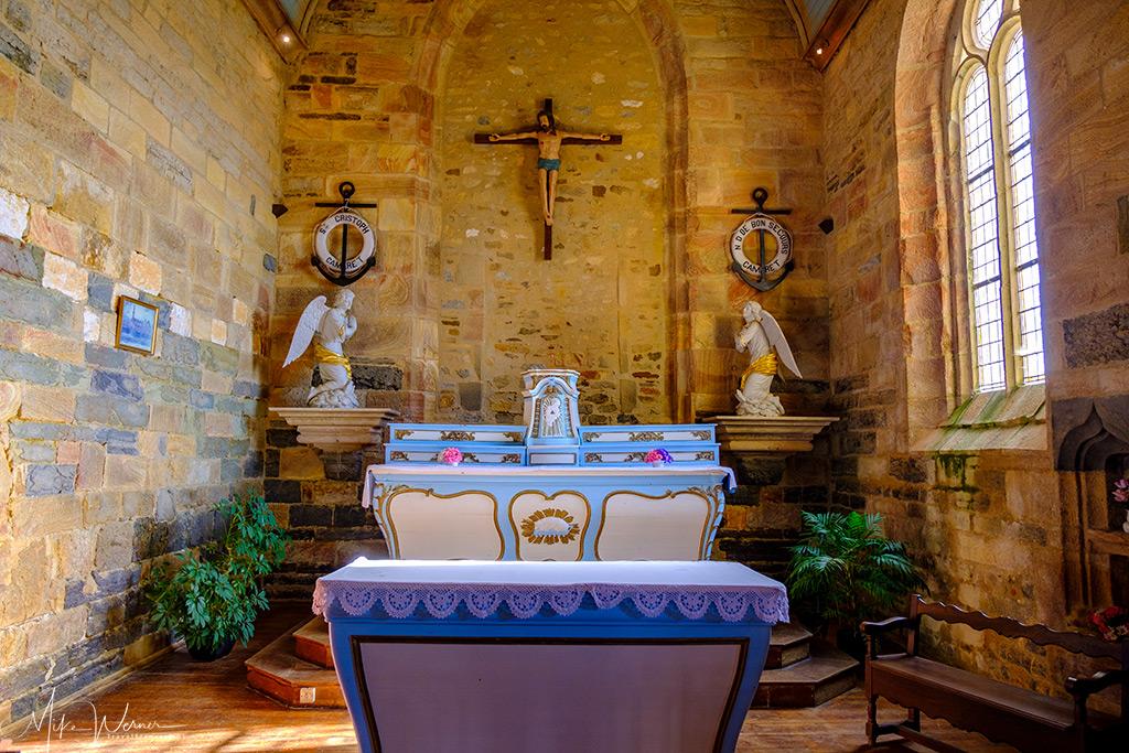 The altar of the Notre-Dame-de-Rocamadour Chapel at Camaret-sur-Mer