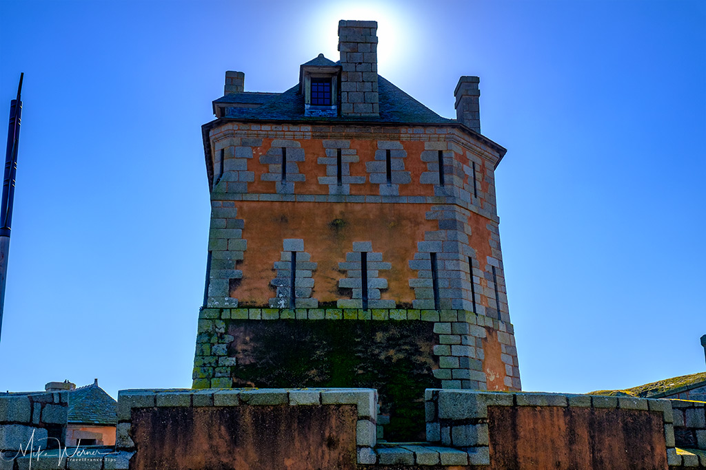 The central tower of the Vauban Tower of Camaret-sur-Mer