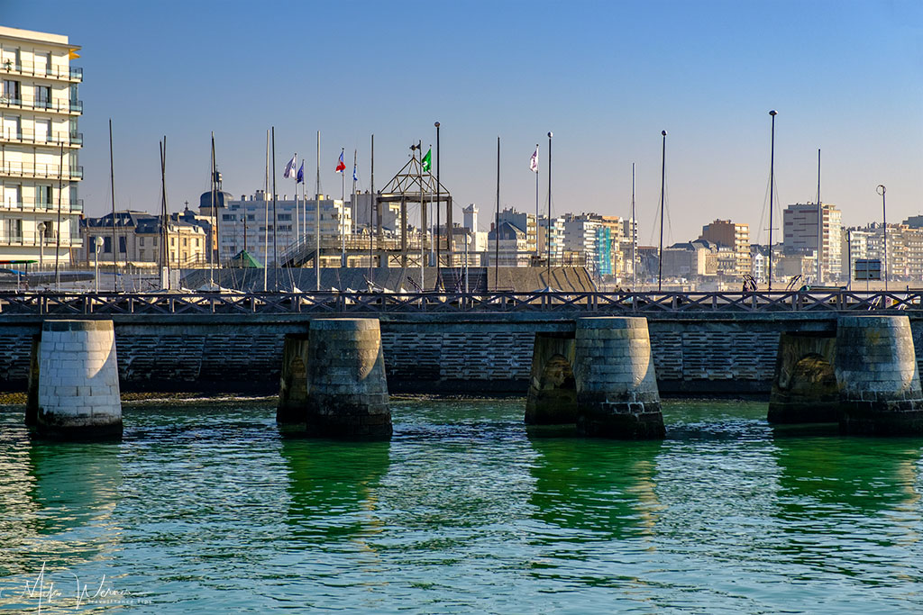 Harbour entry waterway at Les-Sables-d'Olonne