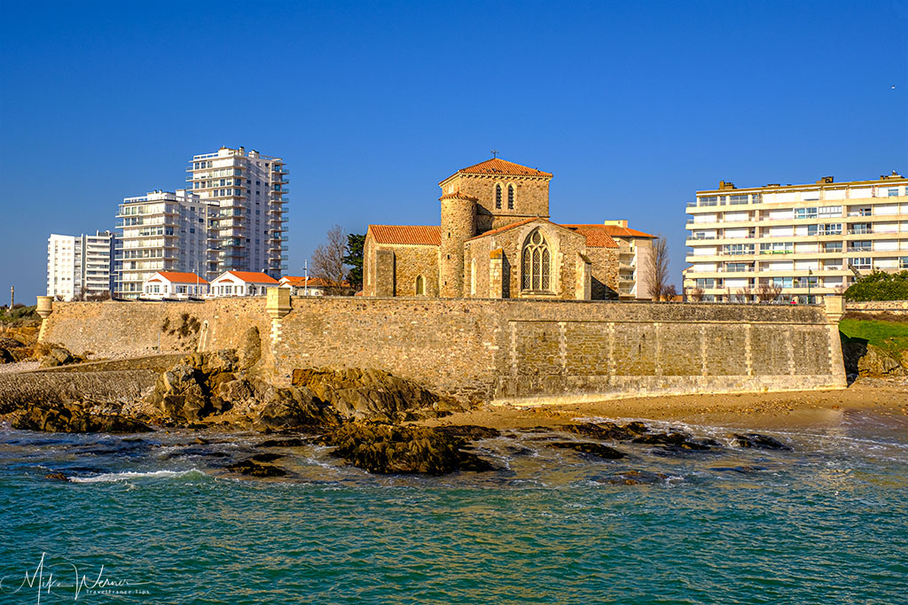 The Saint-Nicolas Priory at Les-Sables-d'Olonne seen from the lighthouse