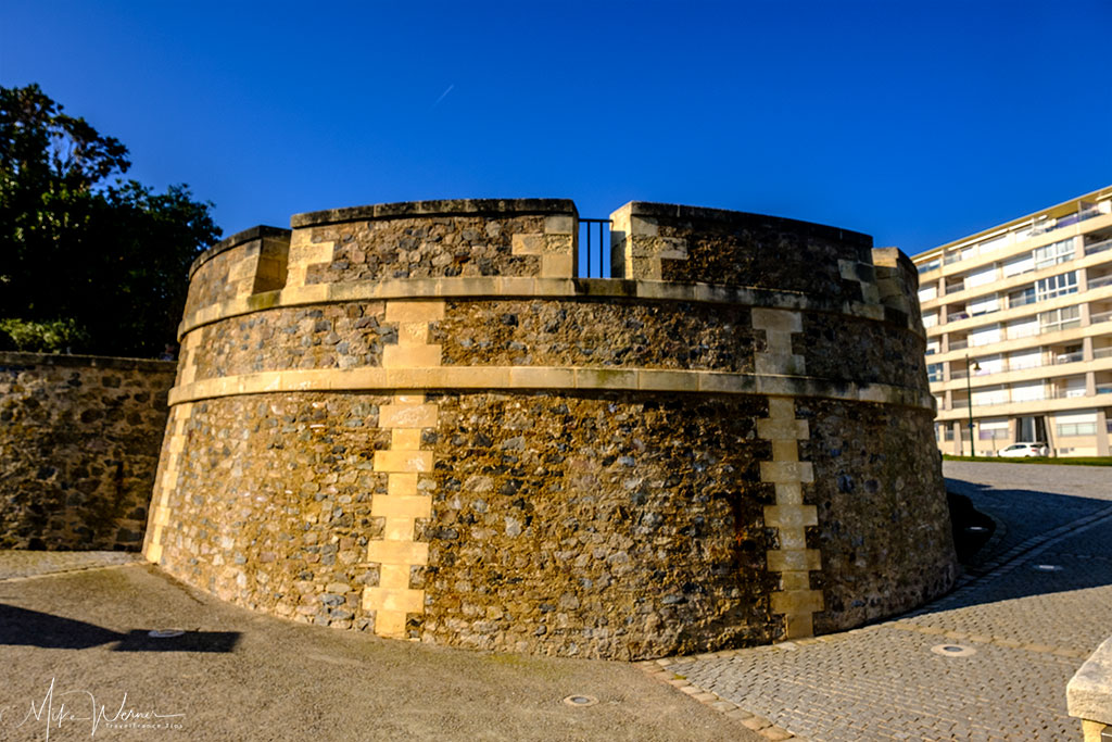 Part of the fortified wall of The Saint-Nicolas Priory at Les-Sables-d'Olonne