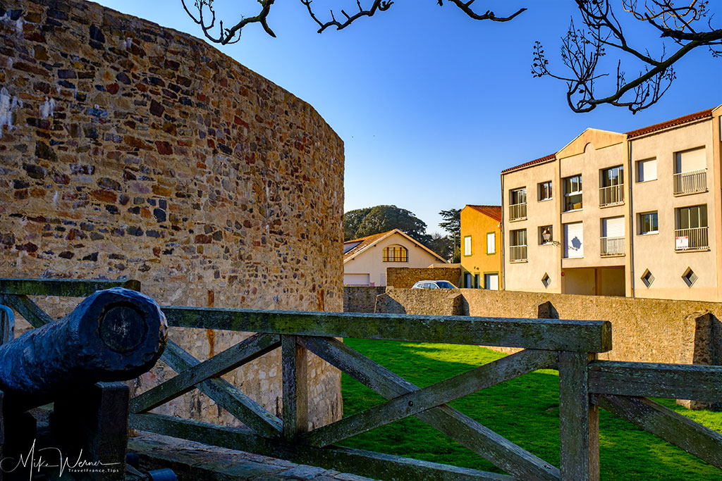 Cannon in front of the Saint-Clair castle in Les Sables-d'Olonne