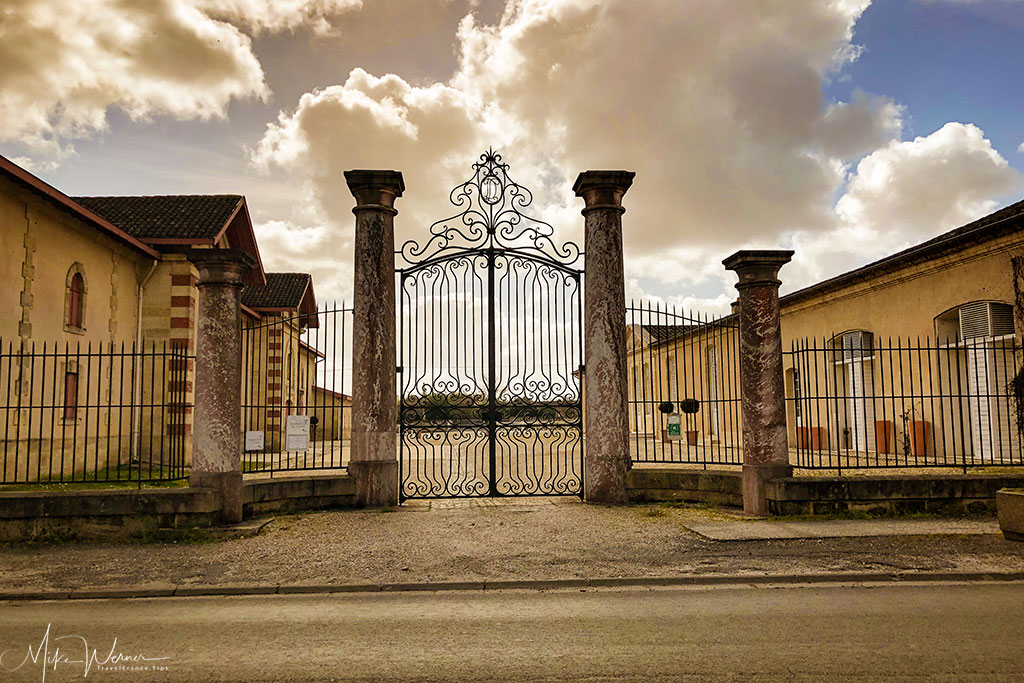 Gates to the Chateau Desmirail in Margaux-Cantenac