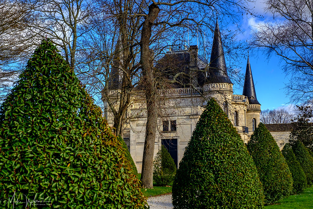 The Chateau Palmer castle in Margaux-Cantenac