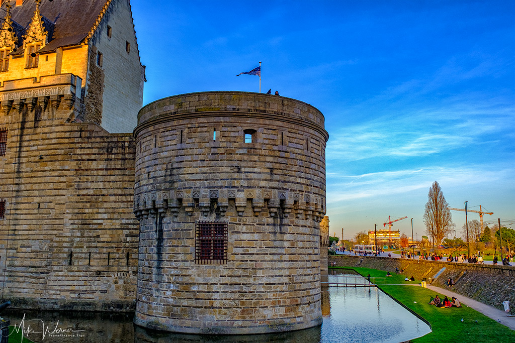 The tower called the 'Tour du Port' of the Duke's castle in Nantes
