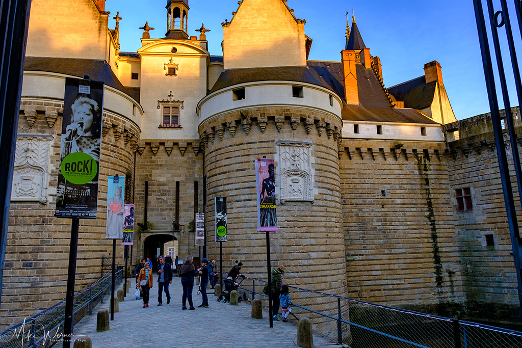 Entrance towers and drawbridge of the Duke's castle in Nantes