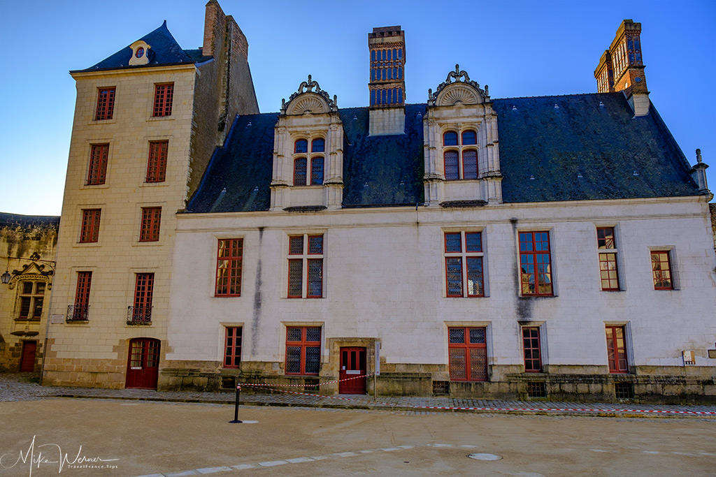 The 'Little Government' building inside the Nantes castle