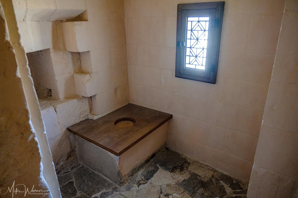 A toilet inside the Nantes castle museum