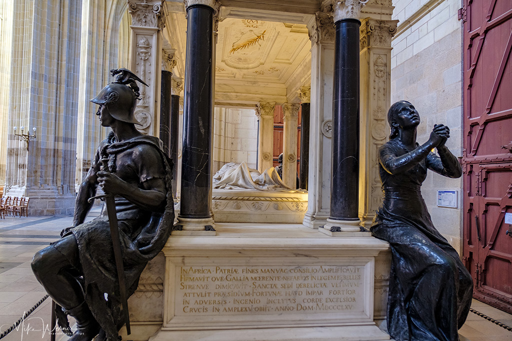 Cenotaph (tomb without a body) of Louis Juchault de Lamoriciere in the Nantes cathedral