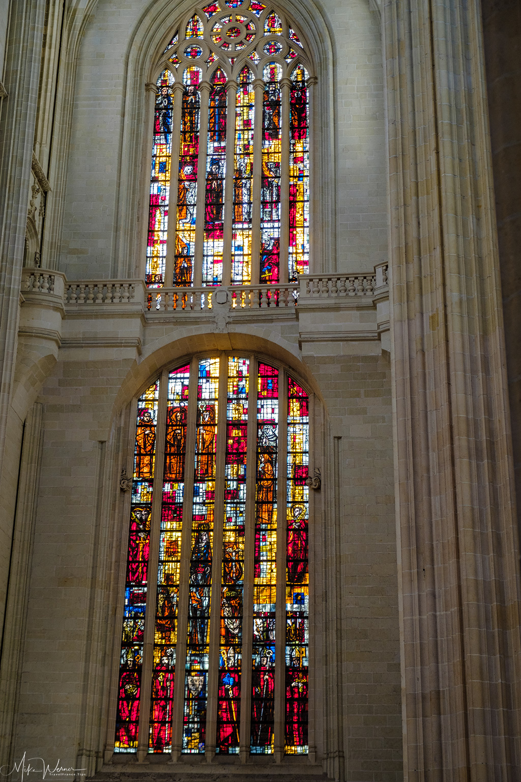Stained glass window in the Nantes cathedral