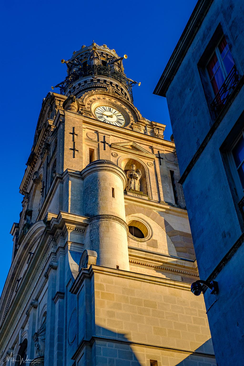 The belltower of the Sainte-Croix church in Nantes