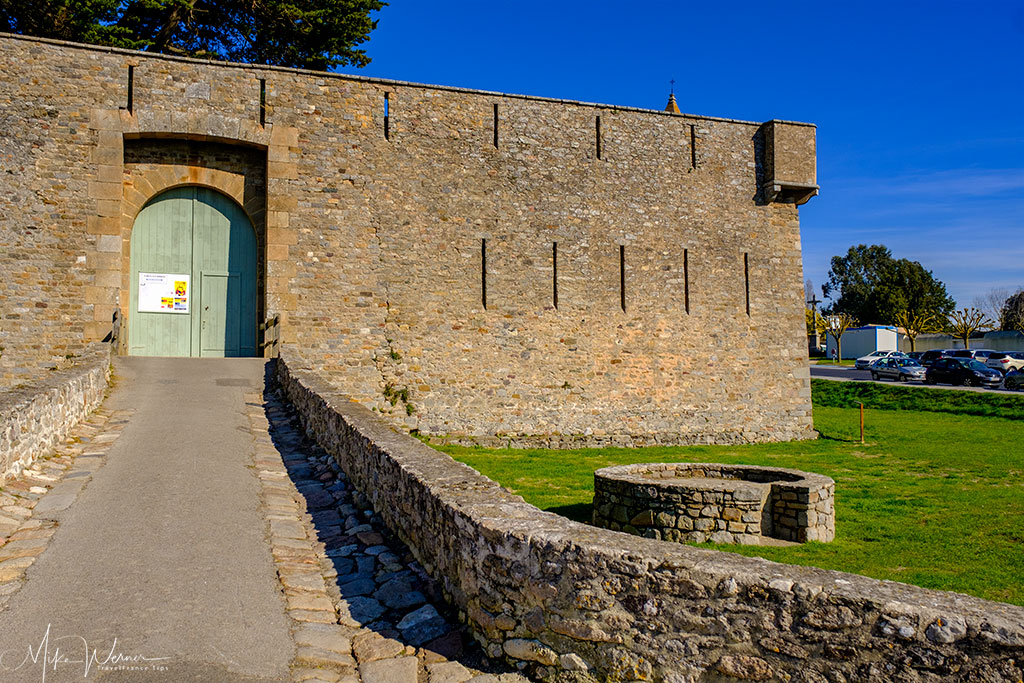Entrance to the Noirmoutier castle in Noirmoutier-en-l'Ile