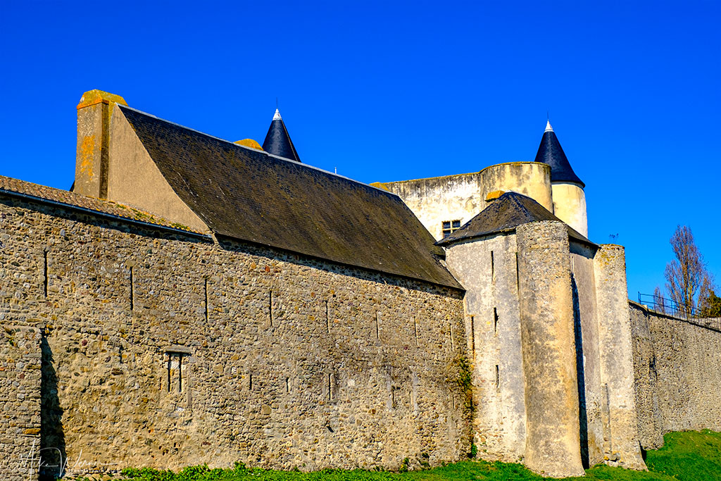 Defensive walls and keep of the Noirmoutier castle  in Noirmoutier-en-l'Ile