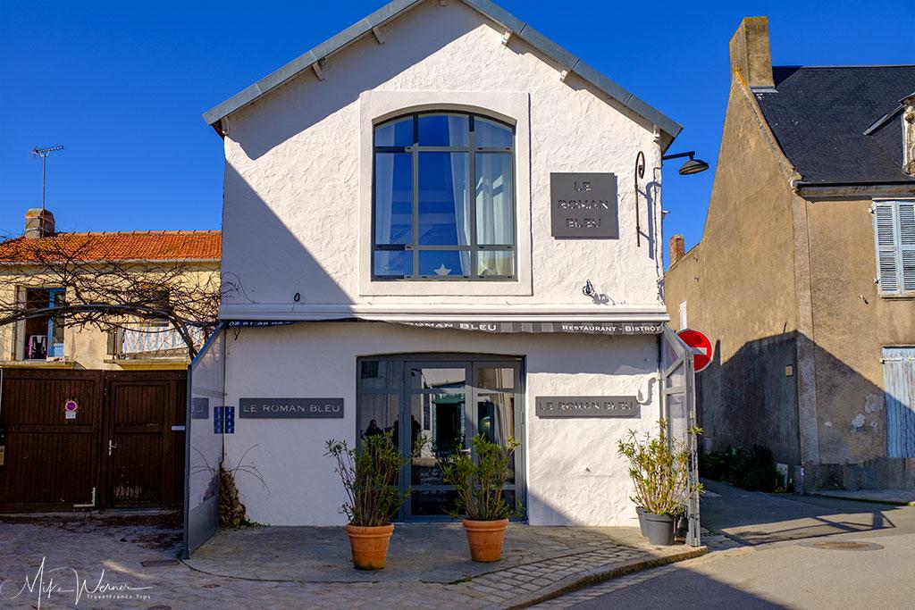 One of several restaurants in the village of Noirmoutier-en-l'Ile