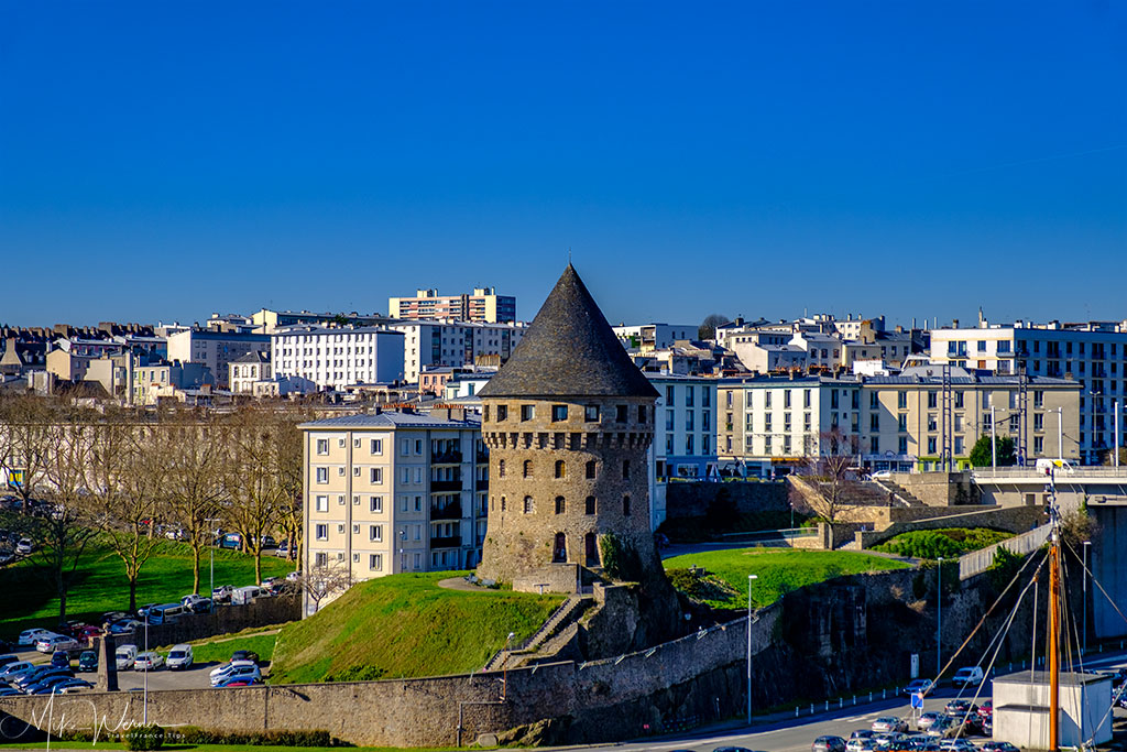 Tour Tanguy as seen from the Brest Castle/Fortress in Brittany