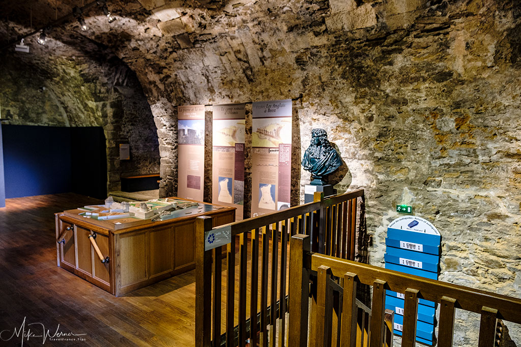 Entry part of the French Navy National Museum inside the Brest castle in Brittany