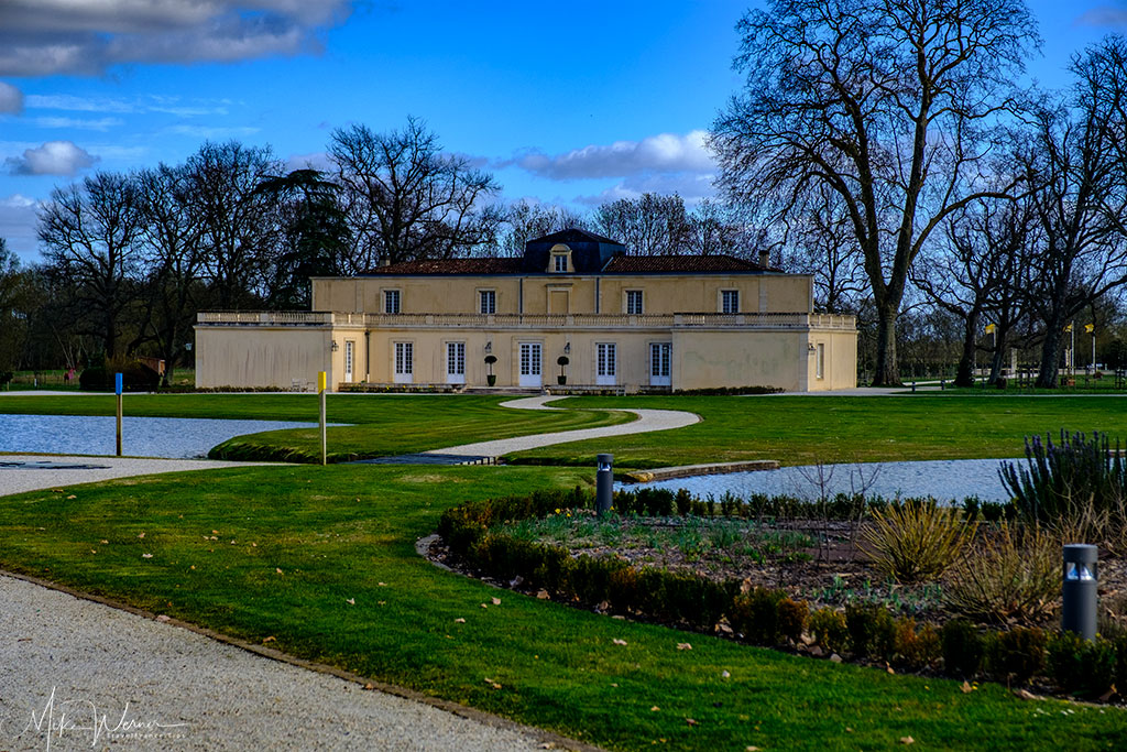 The chateau of Chateau Dauzac at Labarde in the Margaux region