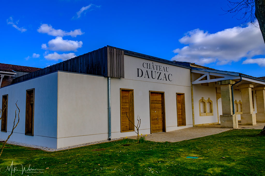 More storage buildings of Chateau Dauzac at Labarde in the Margaux region