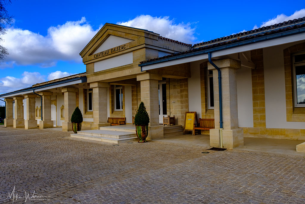 Sales shop of Chateau Dauzac at Labarde in the Margaux region