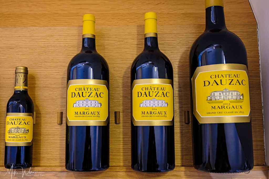 The final product of Chateau Dauzac at Labarde in the Margaux region