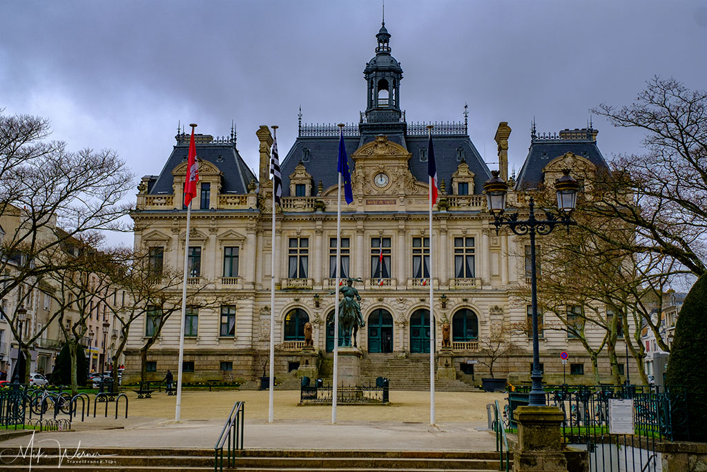 Front square of the City Hall (Mairie) of Vannes in Brittany