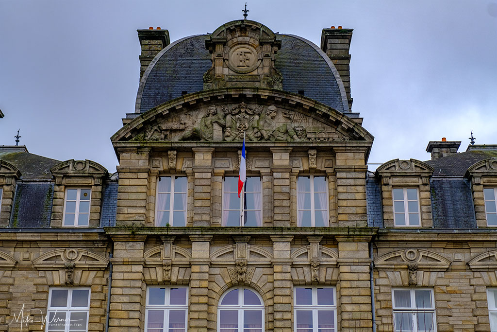Close-up of the prefecture building in Vannes, Brittany