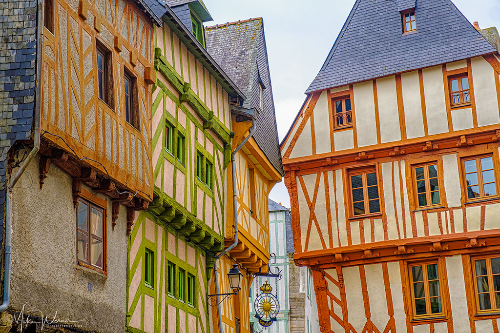 Colorful wooden houses in Vannes, Brittany