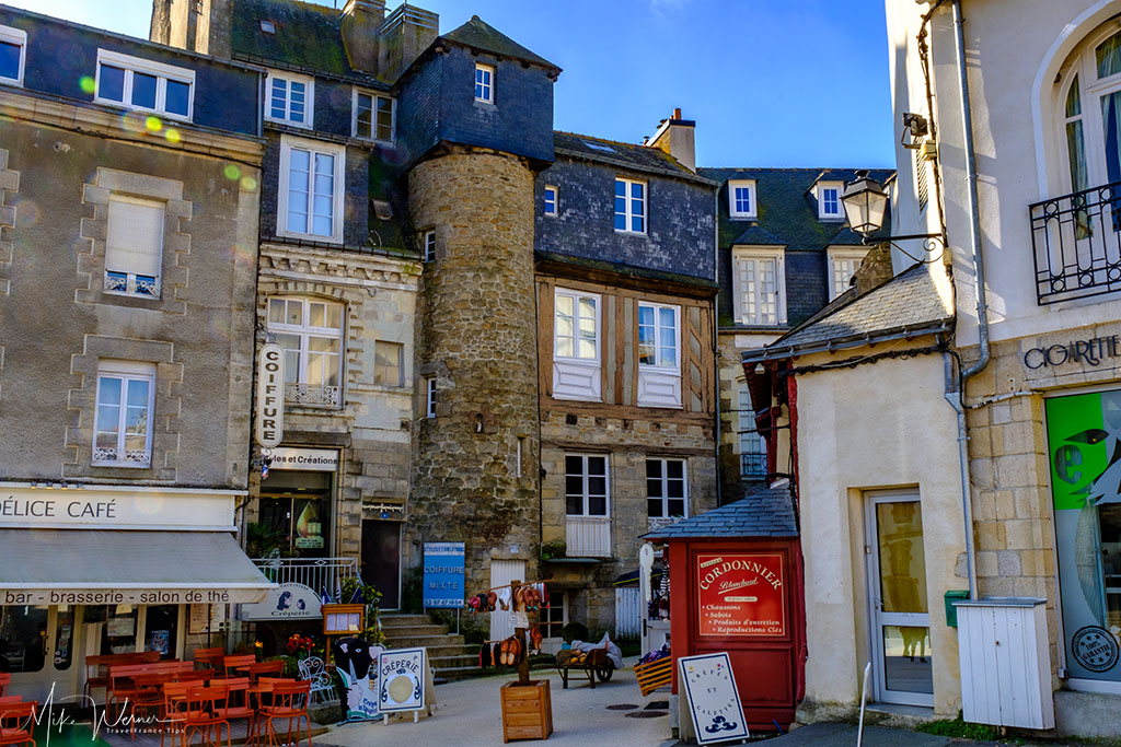House with turret in Vannes, Brittany
